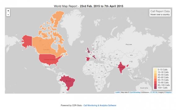 Worldmap Call reporting